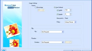 How to resize images by Kernel Bulk Image Resizer tool?